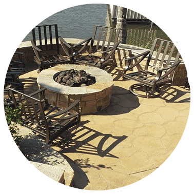 Quality and Professionally custom built stamped and stained patios