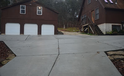 Midwest Concrete and Construction driveways