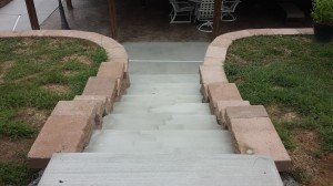Retaining Wall and Concrete Steps - Midwest Concrete and Construction